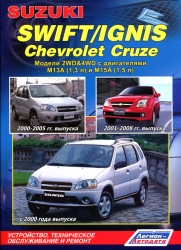 SUZUKI Swift/Ignis, CHEVROLET Cruze (2000-2008) бензин
