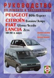 PEUGEOT 806/Expert, CITROEN Evasion/Jumpy, FIAT Ulysse/Scudo, LANCIA Zeta (1994-2001) бензин/дизель