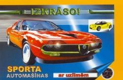 Sporta automašīnas ar uzlīmēm