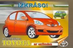 Automašīnas Toyota ar uzlīmēm