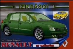 Automašīnas Renault ar uzlīmēm