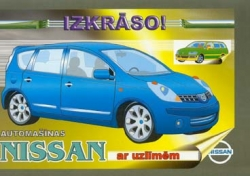 Automašīnas Nissan ar uzlīmēm