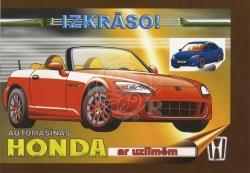 Automašīnas Honda ar uzlīmēm