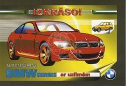 Automašīnas BMW ar uzlīmēm