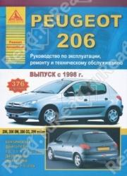 PEUGEOT 206 c 1998 г. выпуска (бензин/дизель)