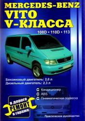 MERCEDES-BENZ Vito V-класса с 1995 (бензин/дизель) 108D, 110D, 113